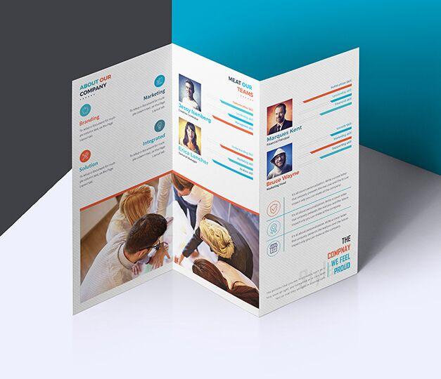 Download Free Elegant Tri-fold Brochure Photoshop Mockup - TitanUI Free Mockups