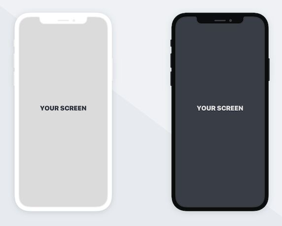 Minimal Flat iPhone X Mockup For Sketch