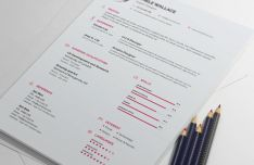 Professional Resume CV Cover Letter Mockup PSD