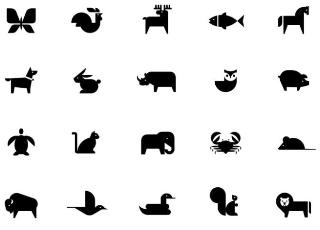 20 Animal Icons For Adobe XD