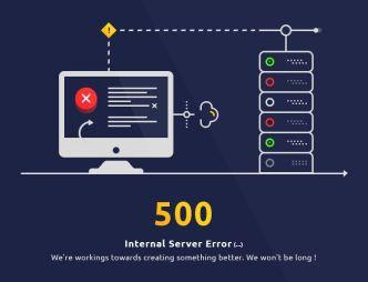 Creative 500 Internal Server Error Page Template PSD