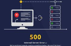 Creative 500 Internal Server Error Page Template PSD