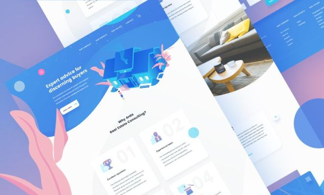 Real Estate Landing Page Template PSD