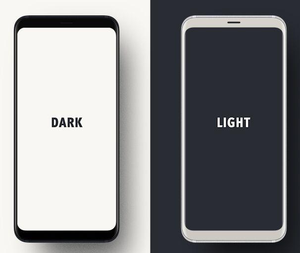 Dark Light Samsung Galaxy S9 PSD Mockup-min