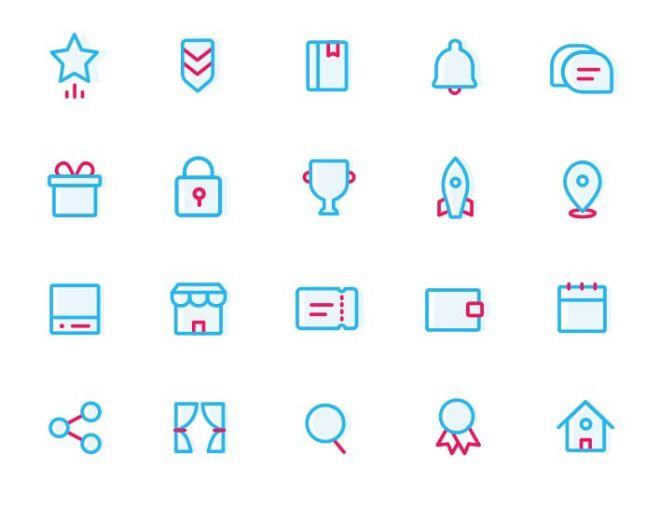 20 Minimal Flat Sketch Icons-min