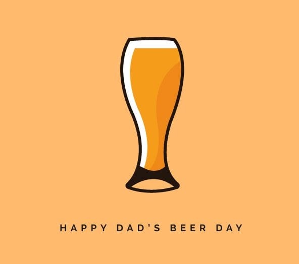 Father's Day Beer Icon Vector-min