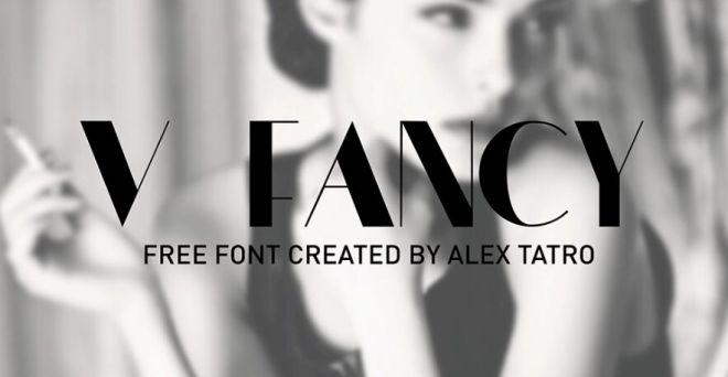 V FANCY Typeface-min