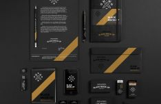 Black Branding Mockup Based On Real Photos-min