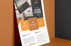 Photorealisitic Business Flyer Template PSD-min
