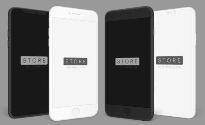 Angled iPhone X & iPhone 8 Mockup PSD-min