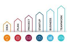 Column Chart Infographic Vector Template-min