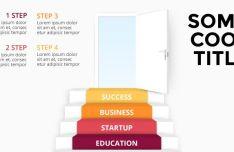 Door & Steps Vector Infographic Template-min