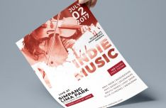 Indie Music Flyer PSD Template-min
