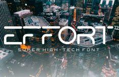 Effort High-tech Font-min