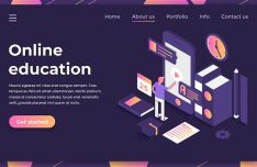 Online Education Landing Page Template PSD-min