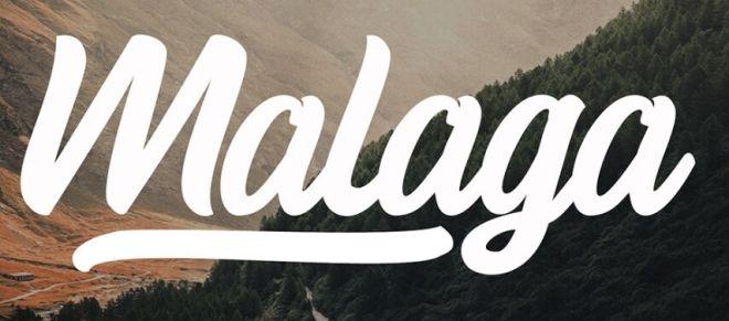 Malaga Handwritten Lettering Font-min