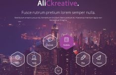 Modern Portfolio Web Template For Photoshop-min
