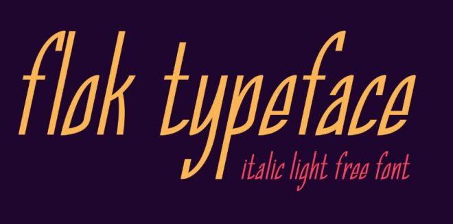 Flok Italic Typeface-min