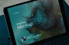 Realistic iPad Pro PSD Mockup