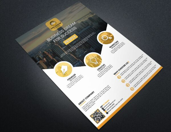 Professional A4 Business Flyer PSD Mockup