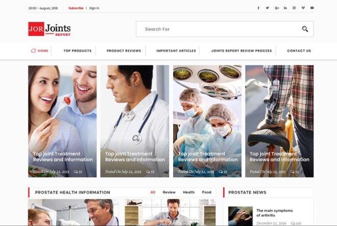 Simple Clean Medical & Health Care Web Template PSD-min