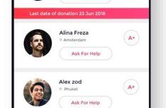 Blood Donation Mobile App UI