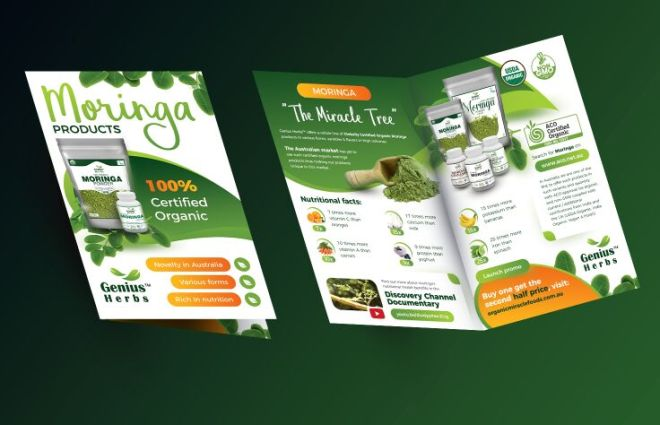 Half Fold Brochure PSD Mockup-min