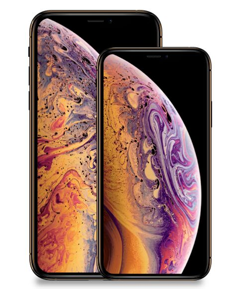 iPhone XS & iPhone XS Max Sketch Mockup