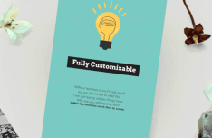 Customizable Card Design Template For Photoshop