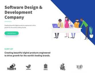 Software Design & Development Web Template PSD