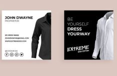 Clothing Industry Business Card PSD Mockup