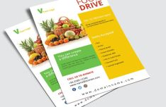 Food Drive Flyer PSD Mockup