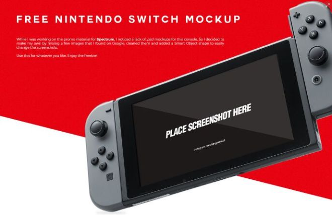Reaslitic Nintendo Switch PSD Mockup