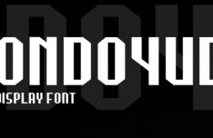 Bondoyudo Display Typeface