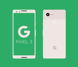 Minimal Flat Google Pixel 3 Vector Mockup