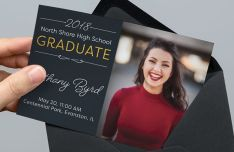 Graduation Announcement & Invitation PSD Mockup