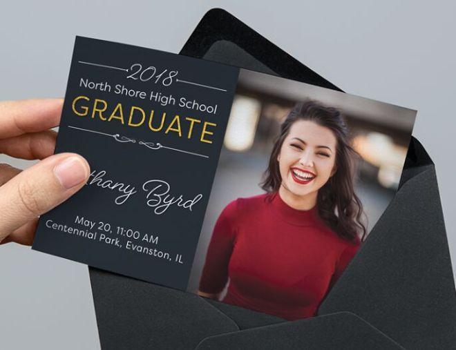 Graduation Announcement & Invitation PSD Mockup