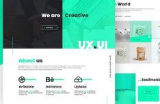 Modern UI UX Design Agency PSD Template