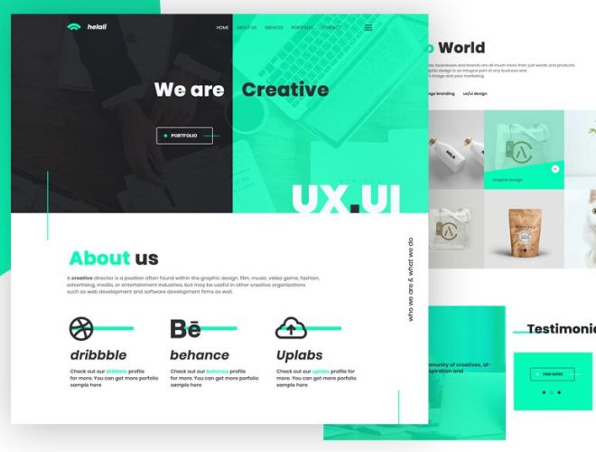 Modern UI UX Design Agency PSD Template