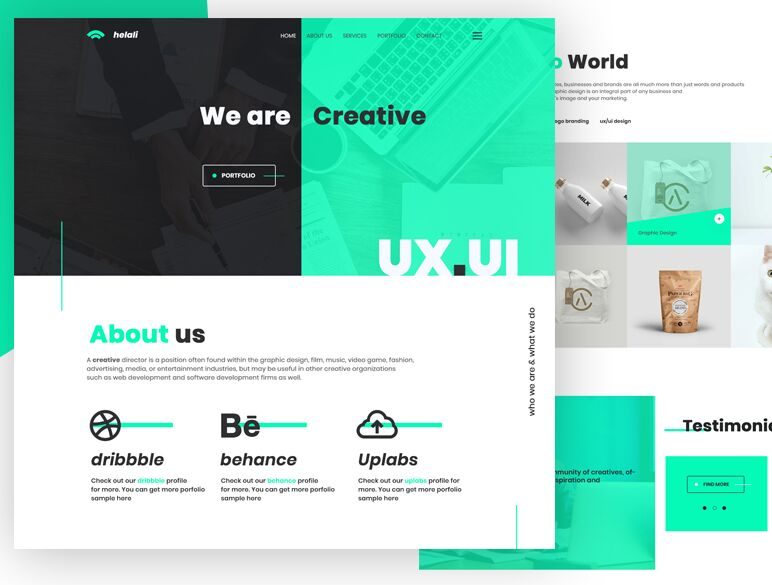free modern ui ux design agency psd template titanui