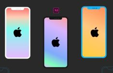Flat iPhone X XS XR Mockup For Adobe XD