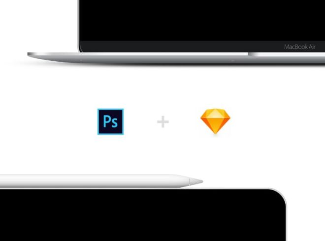 New 2018 iPad Pro & New MacBook Air PSD & Sketch Mockups