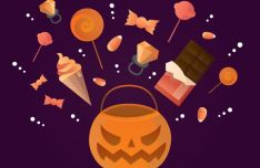 Flat Halloween Elements Vector