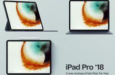 iPad Pro 2018 PSD Mockup
