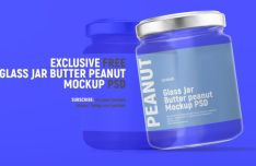 Realistic Glass Jar PSD Mockup