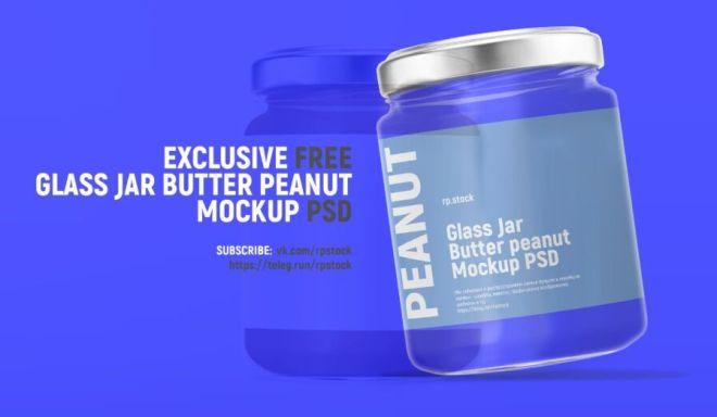 Realistic Glass Jar PSD Mockup