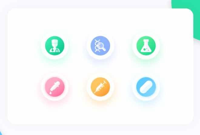 6 Minimal Medical Icons For Adobe XD
