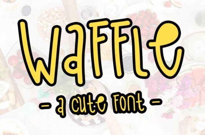 Waffle Cute Handwritten Font