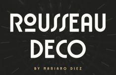 Rousseau Deco Display Font