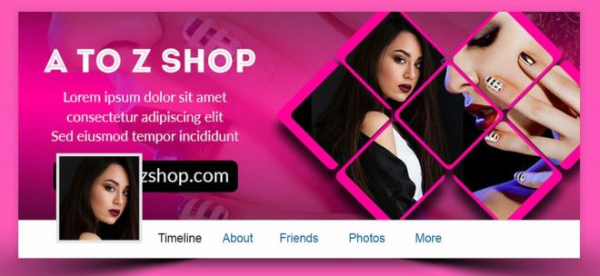 Fashion Facebook Cover PSD Templates